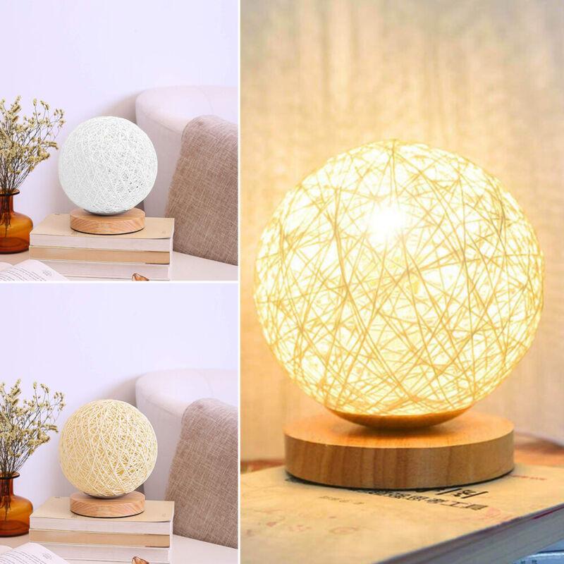 Tischleuchte LED Lampe 3D Nachtlicht Holz Tischlampe Light Wohnzimmer Innen Deko