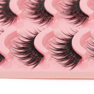 5 Pairs Long Makeup Cross Thick False Eyelashes Eye Lashes Nautral Handmade