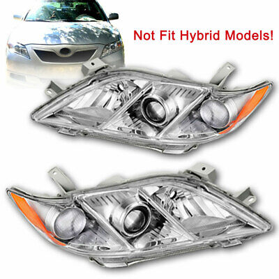 For 2007 2008 2009 Camry Headlights Headlamps 07 08 09 LH Left+Right L+R One Set