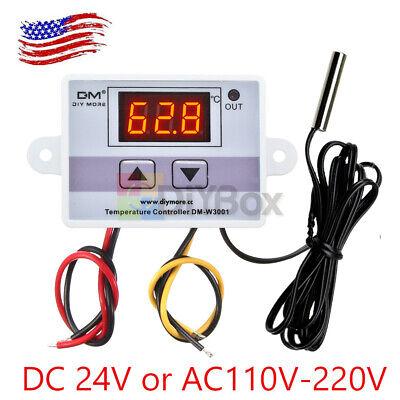 24v 110v-220v Digital Led Temperature Controller Thermostat Control Switch Probe