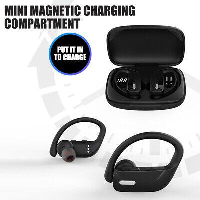 Bluetooth 5.0 Headset TWS Wireless Earbuds Earphones Stereo Ear Hook Headphones