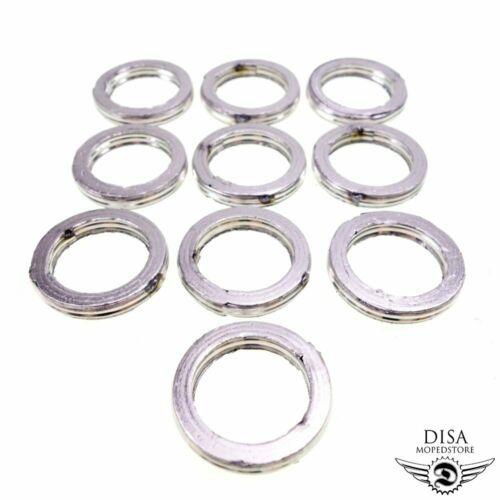 10x Auspuffdichtung KrümmerDichtung für 50ccm Roller Peugeot Aprilia NEU *