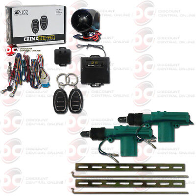Used, NEW CRIMESTOPPER SP-102 1-WAY CAR ALARM SYSTEM PLUS PAIR OF 2-WIRE DOOR ACTUATOR for sale  Los Angeles