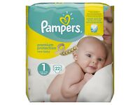 Unopened size 1 & 2 pampers