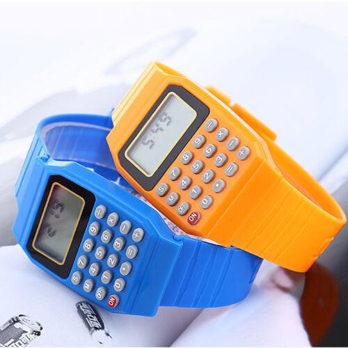 Children's Digital Calculator Watch Wrist Watches for Kids Students Gift