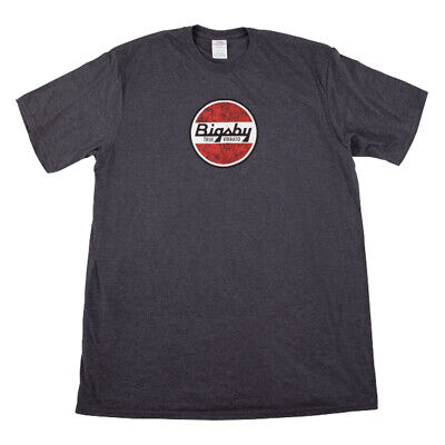 Gretsch Bigsby Round Logo T-Shirt, Gray, L Large