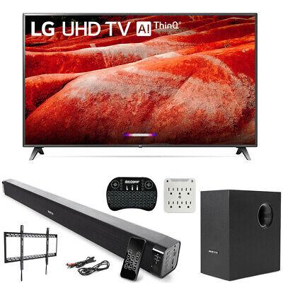 "LG 86UM8070PUA 86"" 4K HDR LED TV (2019) AI ThinQ with Deco Gear Soundbar Bundle"