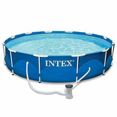 Intex 12 Feet X 30 Inch ABOVE GROUND POOL, Filter Pump Metal Frame POOL SET