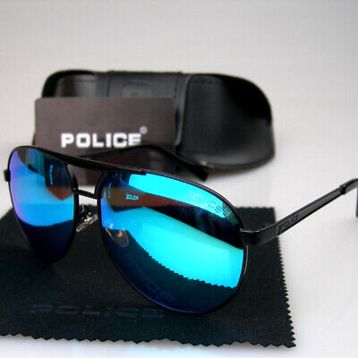 New Men Women Polarized Sunglasses Police Metal Frame Eyewear Driving (Police Glasses Men)