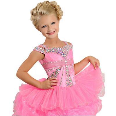 Infant toddle kids mini party pageant dress cupcake ball gowns Tutu Dance Custom](Cupcake Communion Dress)