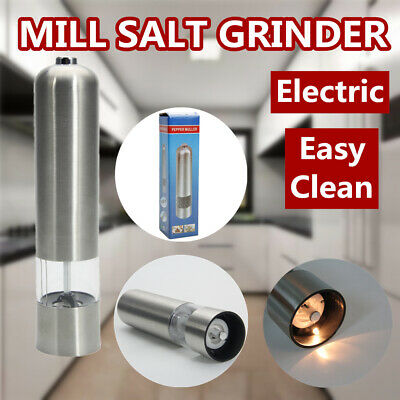 Automatic Electric Pepper Mill Salt Grinder Battery Powered Stainless Steel Battery Powered Salt Mill
