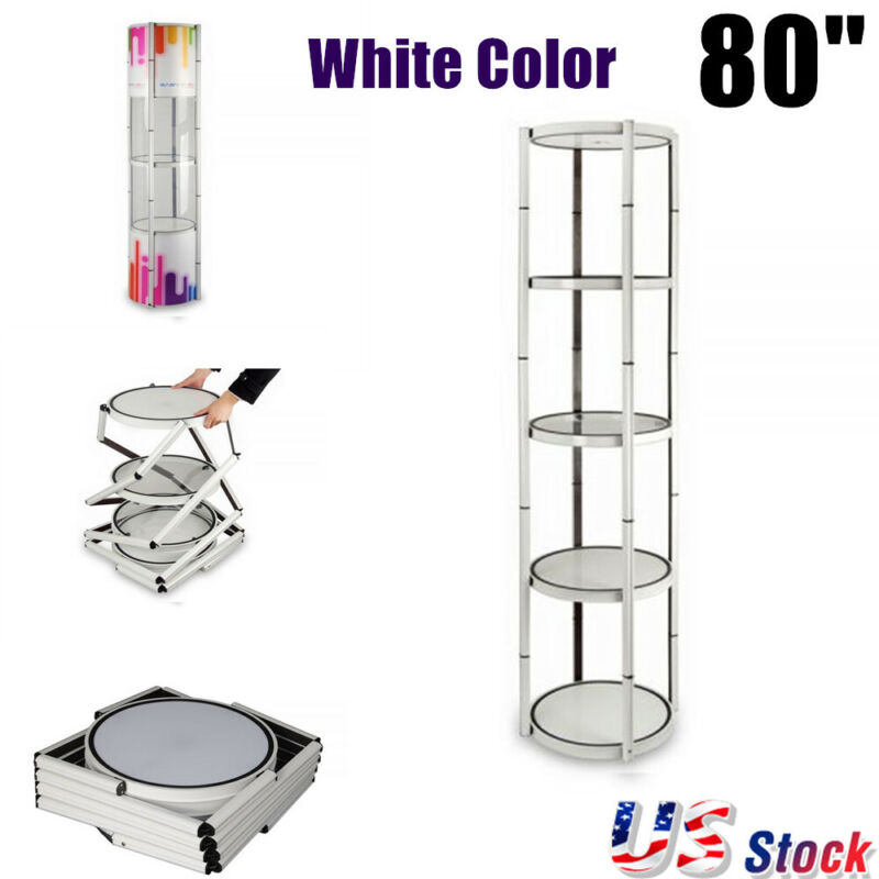 "US Stock 81"" Round Folding Twister Tower Spiral Tower Display Case Presale"