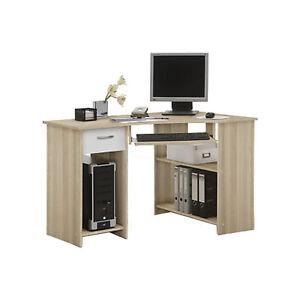 Felik Corner Desk Keyboard Tray and Shelves Walnut/Beech/Ash/Oak/White/Black