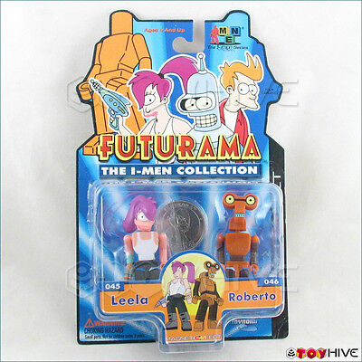 Futurama The I-Men Collection Leela & Roberto 2 figure pack made by Toynami