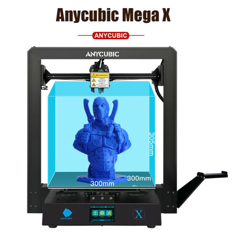 Anycubic Mega X 3D Printer Ultrabase Platform Powerful Extruder 300×300×305mm³