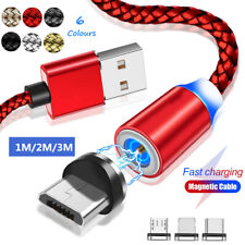 Magnetic USB Type C IOS Micro Charger Charging Cable Lighting For iphone Samsung