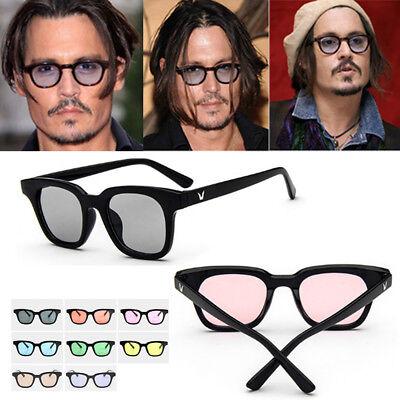 Tinted Lens Retro Vintage Celebrity Unisex Designers Johnny Depp Sunglasses (Johnny Sunglasses)
