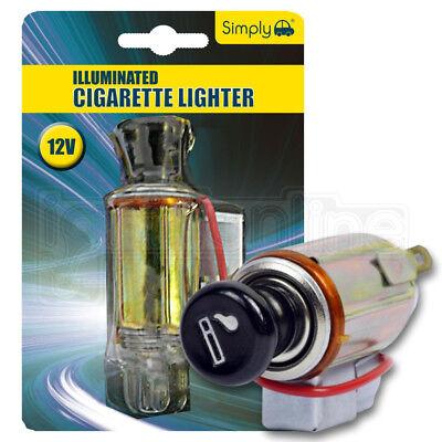 Simply 12V Illuminated Cigarette Lighter American & Japanese Car Socket