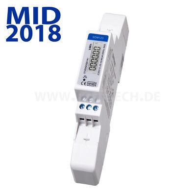 Energiemessgerät Stromzähler MID geeicht 2018 für Hutschiene mit S0 5(45)A