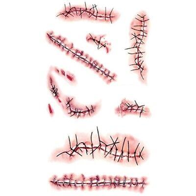 sta Zombie Horror Cicatrici Ferite Tatuaggi Puntura Sangue (Halloween Festa)