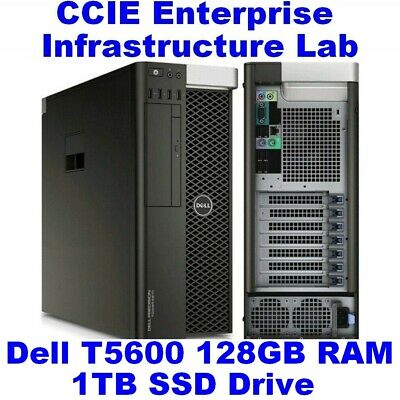Cisco CCIE Lab Enterprise Infrastructure (EI) INE Dell T5600 128GB EVE-NG SD WAN