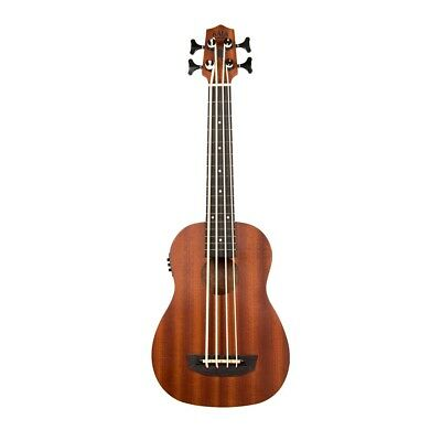 Kala Wanderer Fretted Acoustic-Electric U-Bass Satin Mahogany Ukulele Bass + Bag for sale  National City
