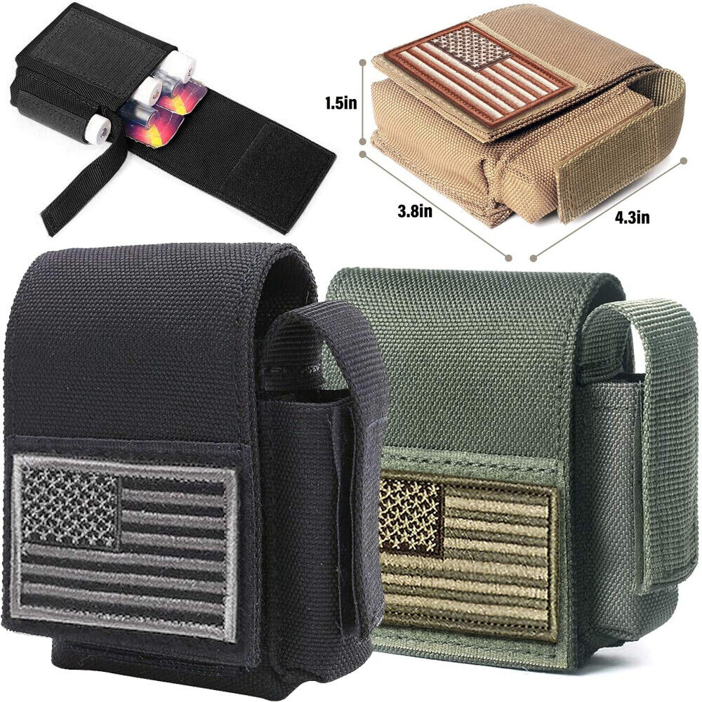 Tactical Cigarette Pouch Molle Battery Pouches Compact EDC Lighter Storage Bags Hunting
