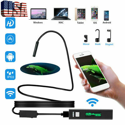 5m Wifi Borescope Endoscope Snake Inspection Camera For Iphone Android Ios