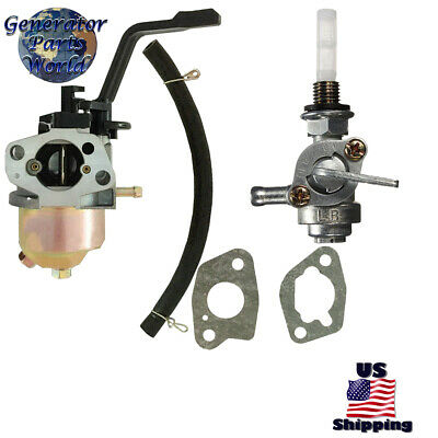 Powerhorse Carburetor W Left Petcock Filter For 750138 750139 4000es 3100 4000