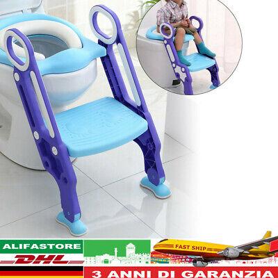 Vasino per bambini Riduttore per WC per bambini con scaletta, Pieghevole Nuovo