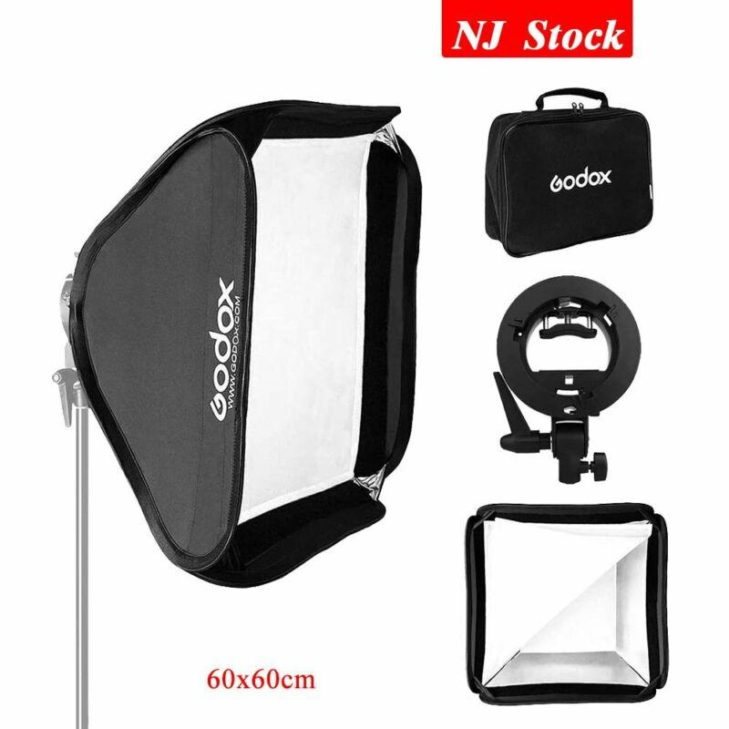 Godox Collapsible Portable Studio Camera Flash Speedlite Bowens Bracket Softbox