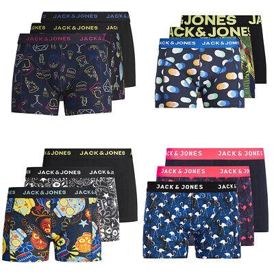 JACK & JONES Uomo 3er Pacco Boxer Uomini Marche Costume Mutande