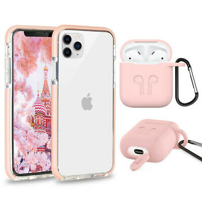 Cute Shockproof Phone Case+ Airpods Cover For iPhone 11 8 Plus 7 Plus XR XS Max