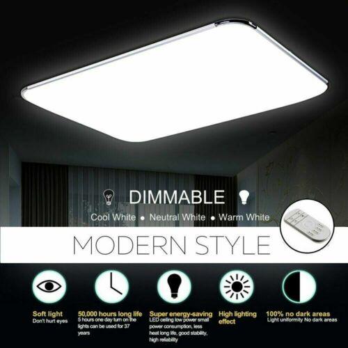 LED Ultraslim Dimmbare Deckenleuchte Badleuchte Deckenlampe Flurleuchte