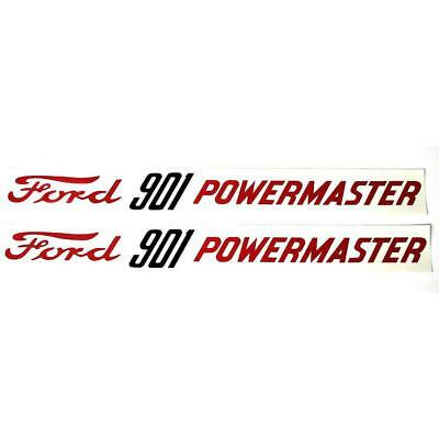 Dec348 Ford 901 Powermaster Hood Decals Pair Mylar Fits Ford
