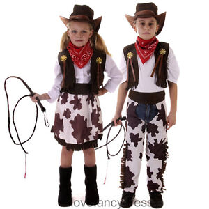 CHILDS-COWBOY-COWGIRL-FANCY-DRESS-COSTUME-WILD-WESTERN-CHARACTER-OUTFIT-3-12YRS
