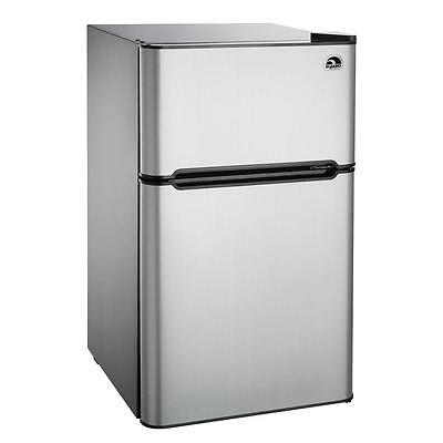IGLOO 3.2 cu. ft. Mini Fridge/Freezer FR834I, Stainless Bite the bullet- Refurbished