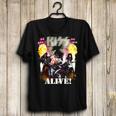Kiss Band/Paul Stanley/Ace Frehley/Alive! Men's US T-Shirt Hot Gift-Top Band