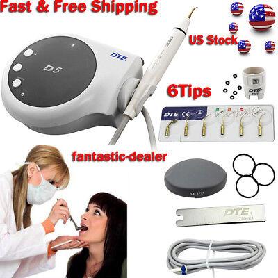Woodpecker Ultrasonic Piezo Dental Scaler Dte D5 Satelec Teeth Cleaner 6tip Top
