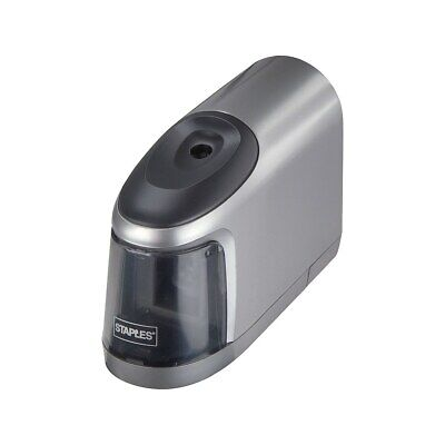 Staples Slimline Battery Operated Pencil Sharpener Silverblack 17813 796619