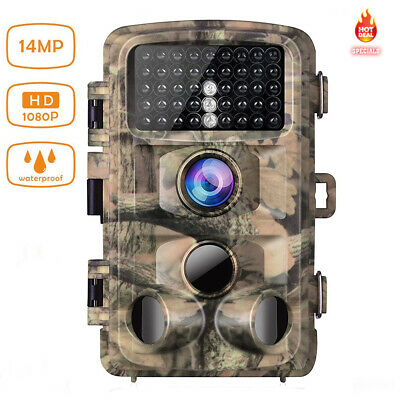 Campark Trail Game Camera FHD 1080P 14MP Hunting Wildlife Cam 3 PIR Night Vision