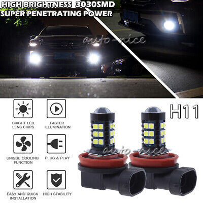 H11 H8 H9 H16 30SMD Projector LED Fog Light Conversion Kit Upgrade 6000K