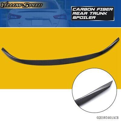 For 2014 + Maserati Ghibli Spoiler Rear Trunk Lip Wing Spoiler Carbon Fiber
