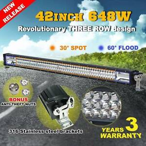 42inch 648W LED Light Bar Philips Spot Flood Combo Offroad Work St Agnes Tea Tree Gully Area Preview
