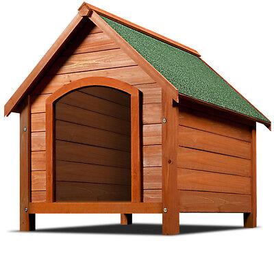 Hundehütte Hundehaus 82cm Wetterfest Dachluke Holz aufklappbar Bitumendach