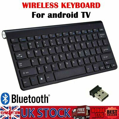 Keyboard WIRELESS Bluetooth Thin for Smart TV Touchscreen Phones Tablets Laptops