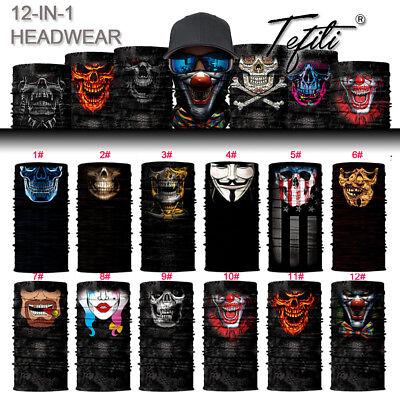 2018 Clown Joker Skull Face Shield Sun Mask Balaclava Gaiter Neckerchief - Clown Joker Mask