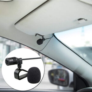 External Hands Free 3.5mm Microphone For Car Audio Stereo With U Shape Fixing