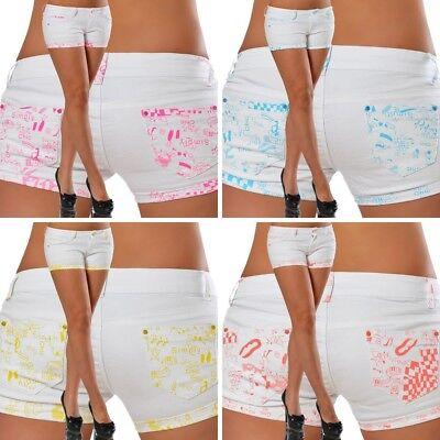 ot Pants Panty Shorts Jeans Hose Hüftjeans Slim Capri #340 (Frauen Hot Hot)