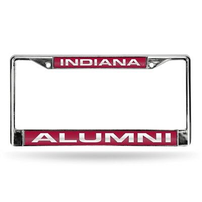 (Indiana Hoosiers NCAA Alumni Chrome Metal Laser Cut License Plate Frame)
